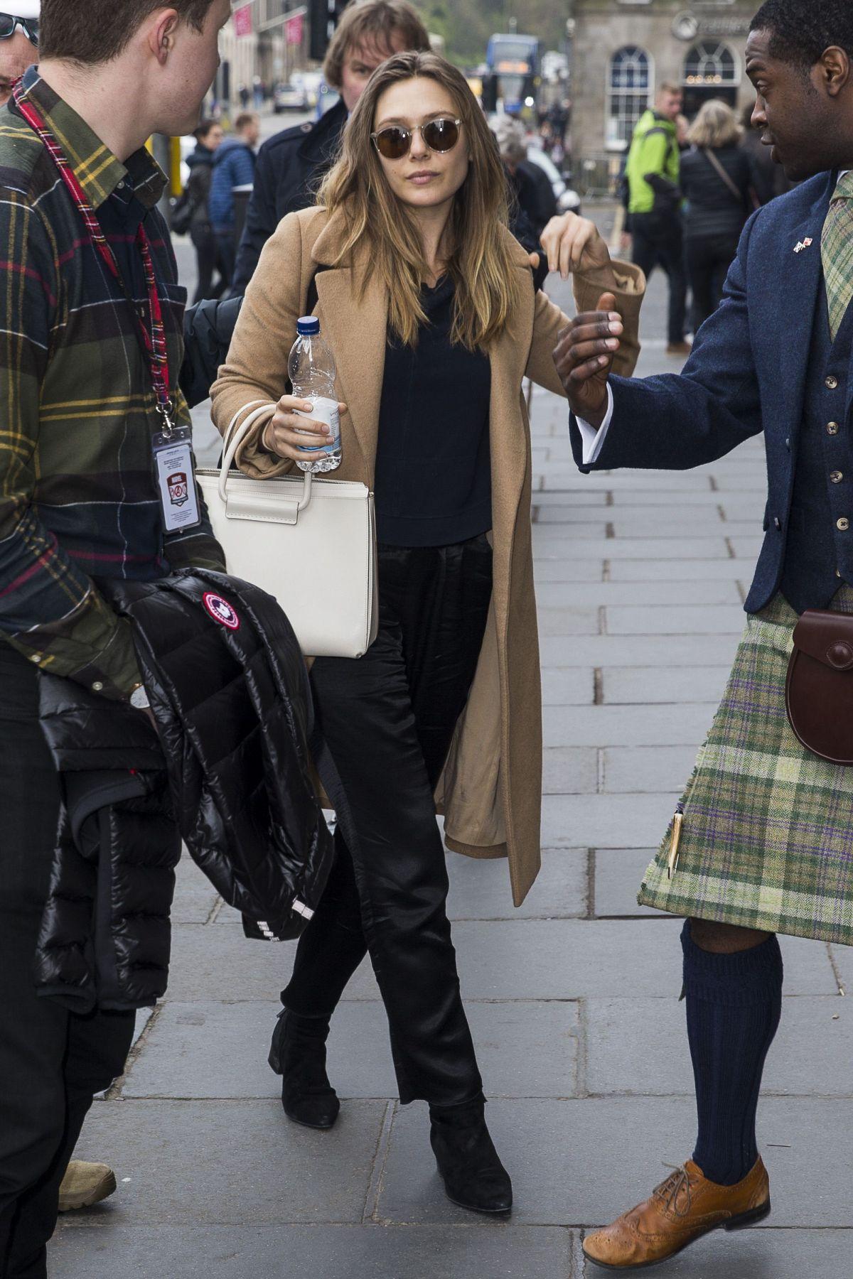ELIZABETH OLSEN Arrives at Her Hotel in Edinburgh 03/28/2017