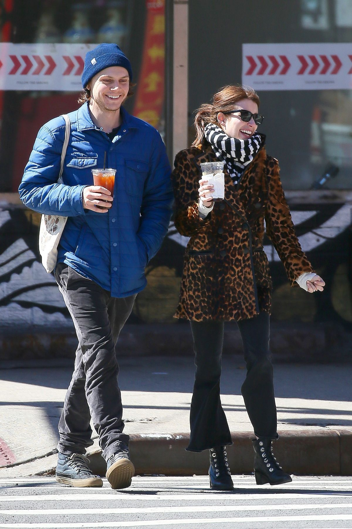 EMMA ROBERTS Out and About in New York 03/29/2017