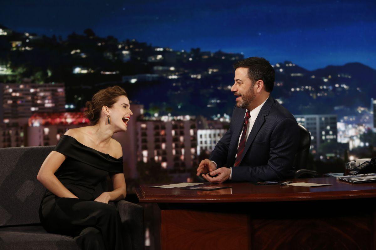EMMA WATSON at Jimmy Kimmel Live 03/06/2017