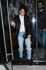 EMMANUELLE CHRIQUI in Ripped Jeans Leaves Catch LA in Los Angeles 03/09/2017