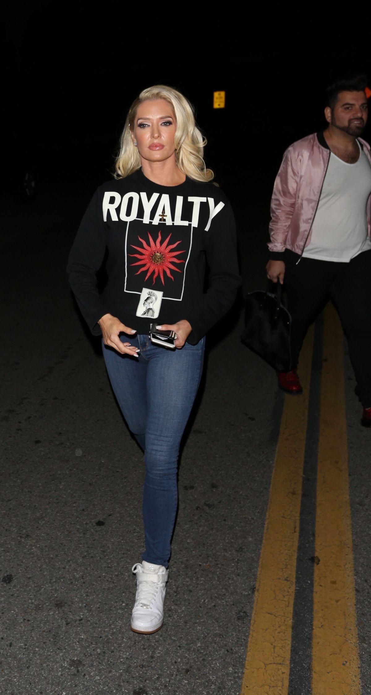 ERIKA JAYNE Leaves CBS Studios in Los Angeles 03/27/2017