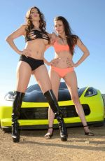 ERIKA JORDAN and ALICIA ARDEN on the Set of a Photoshoot in Malibu 03/13/2017