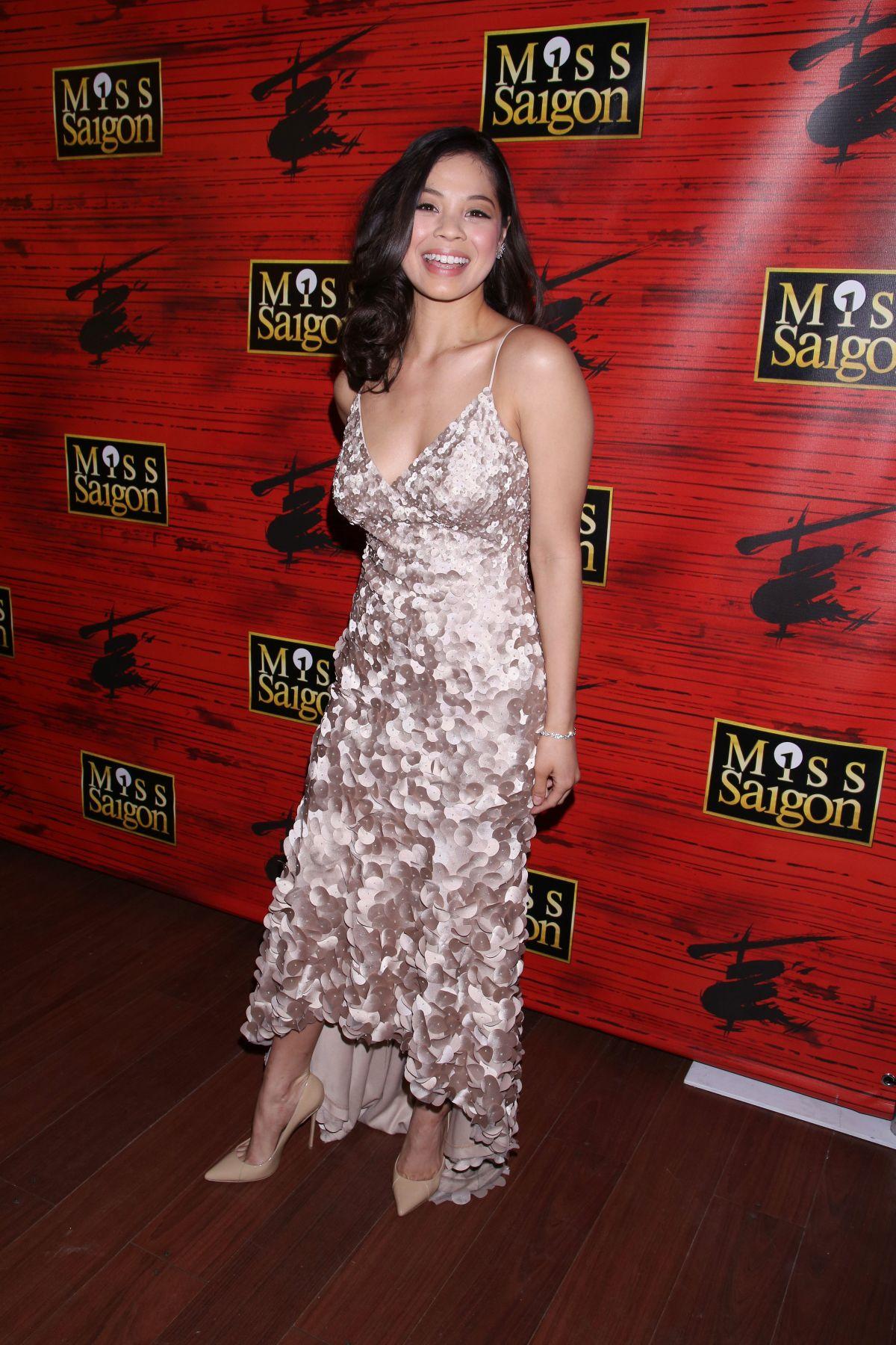 EVA NOBLEZADA at Miss Saigon Broadway Opening Night Party in New York 03/23/2017