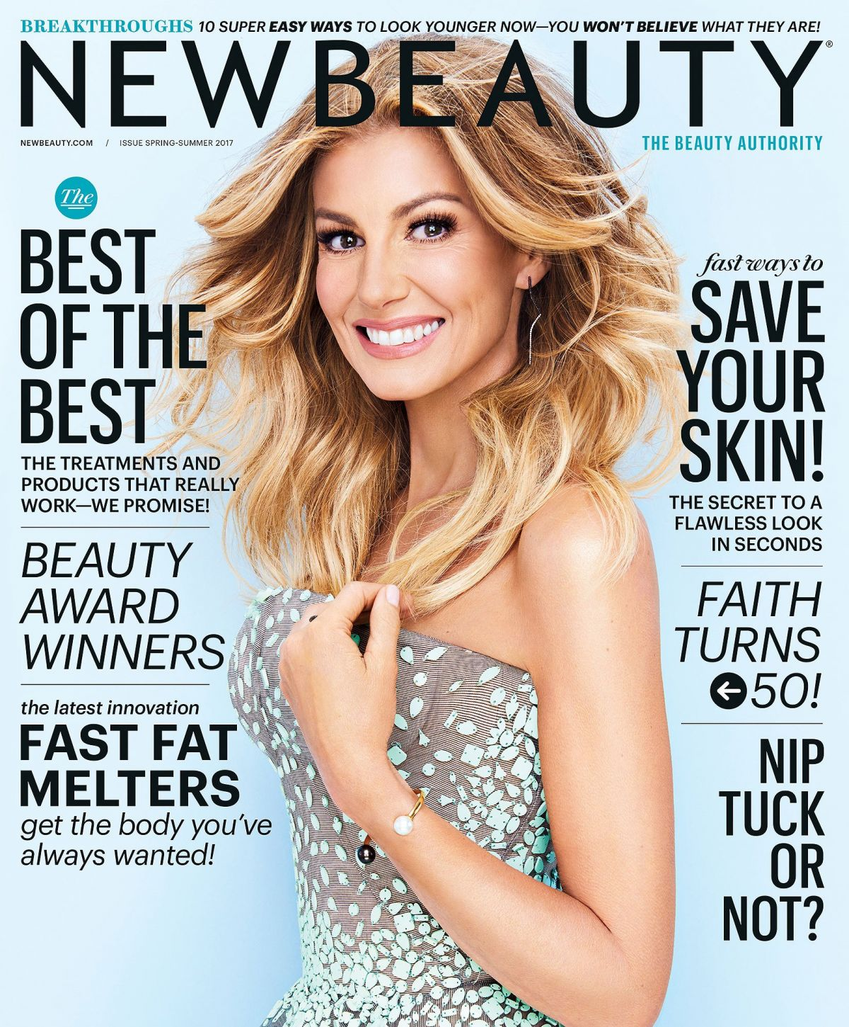 FAITH HILL on the Cover of New Beauty Magazine, Spring/Summer 2017