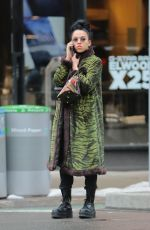FKA TWIGS Out Shopping in Soho 03/18/2017