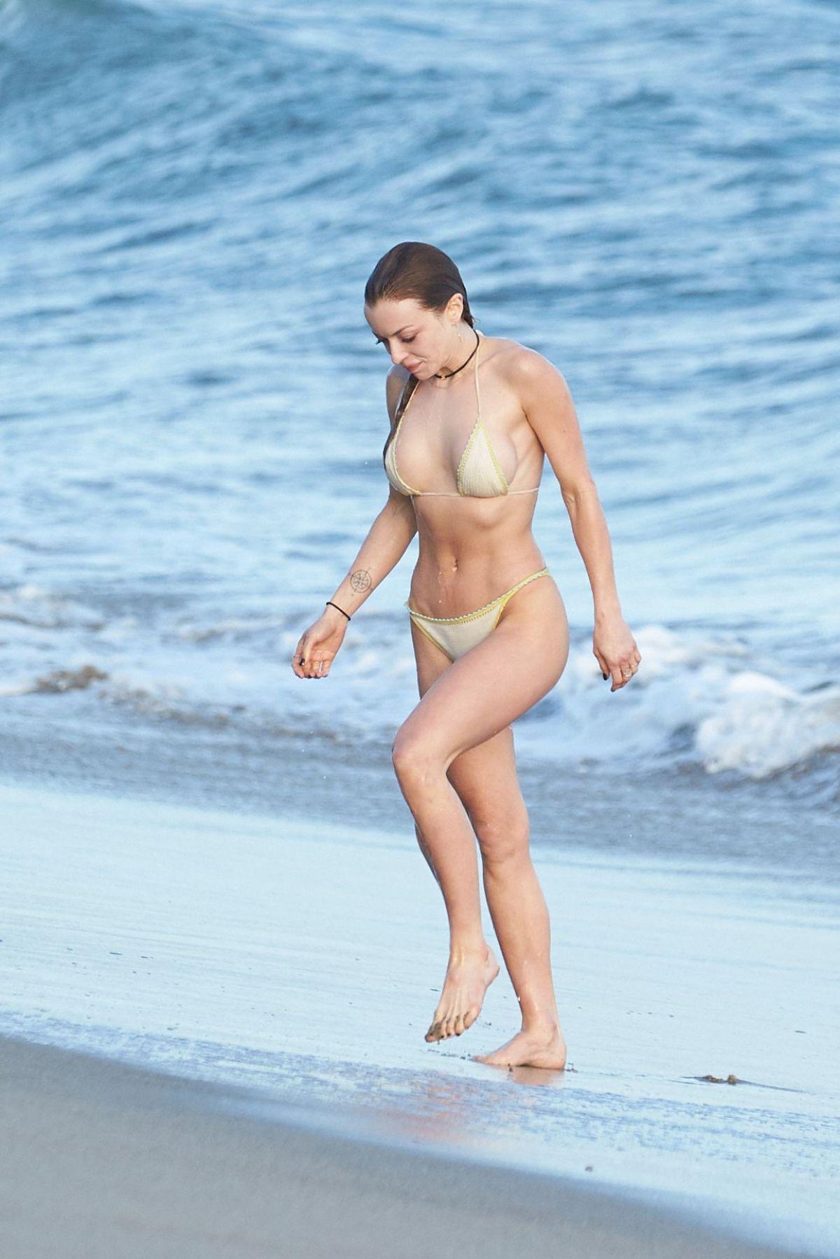 FRANCESCA EASTWOOD in Bikini at a Beach in Malibu 03/30/2017