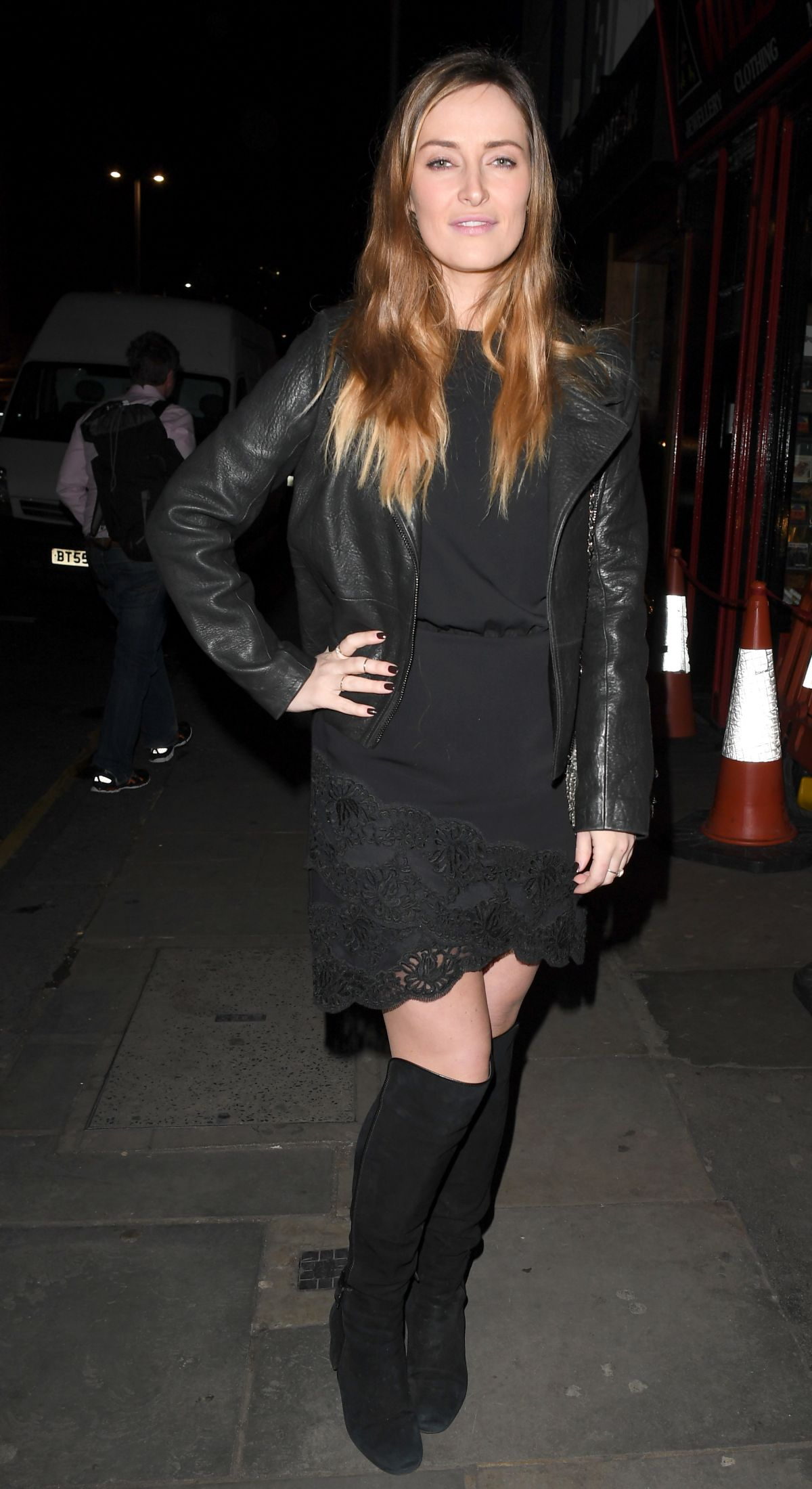 FRANCESCA NEWMAN-YOUNG Arrives at Raffles Night Club in London 03/02/2017