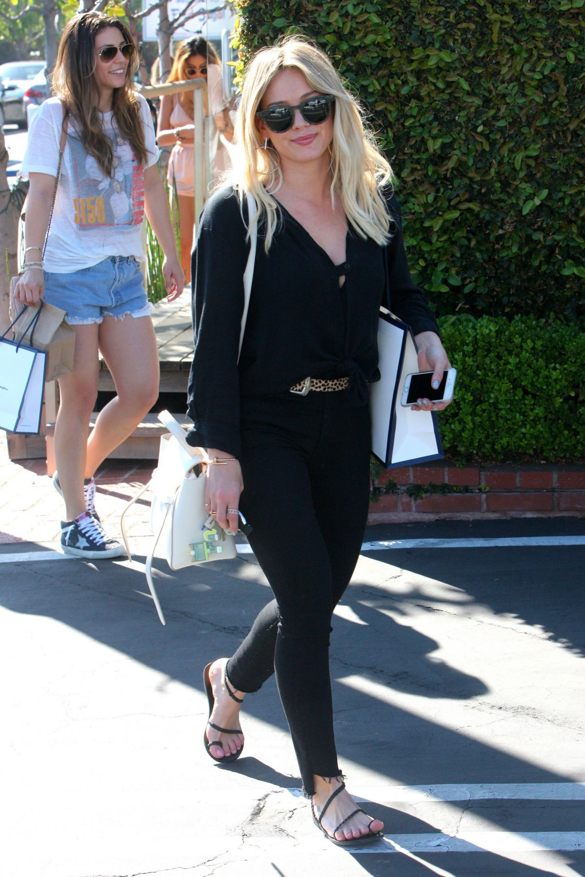 HILARY DUFF Out in West Hollywood 03/12/2017