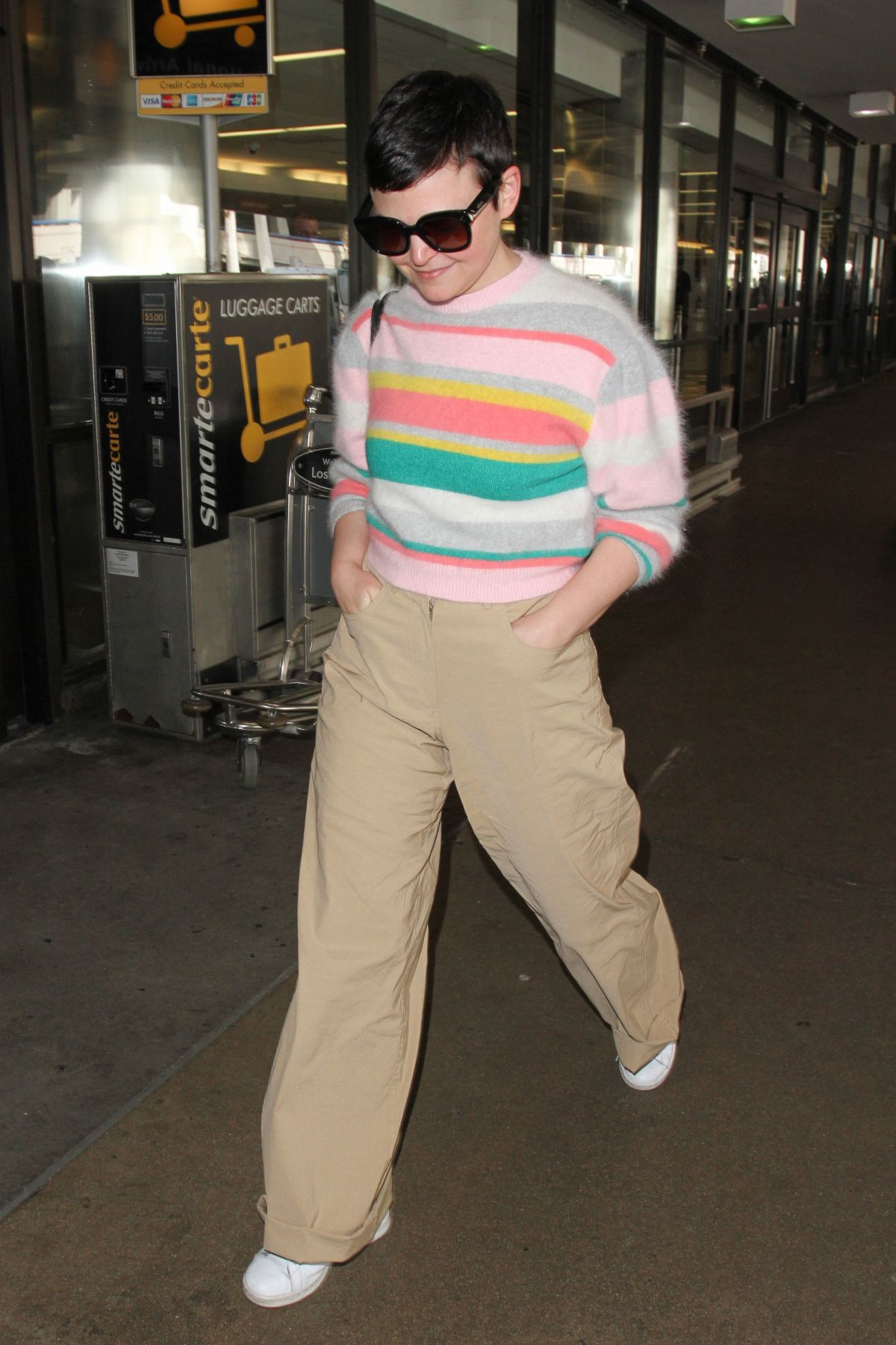 GINNIFER GOODWIN at LAX Airport in Los Angeles 03/17/2017
