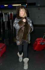 GOLDIE HAWN at JFK Airport in New York 03/08/2017