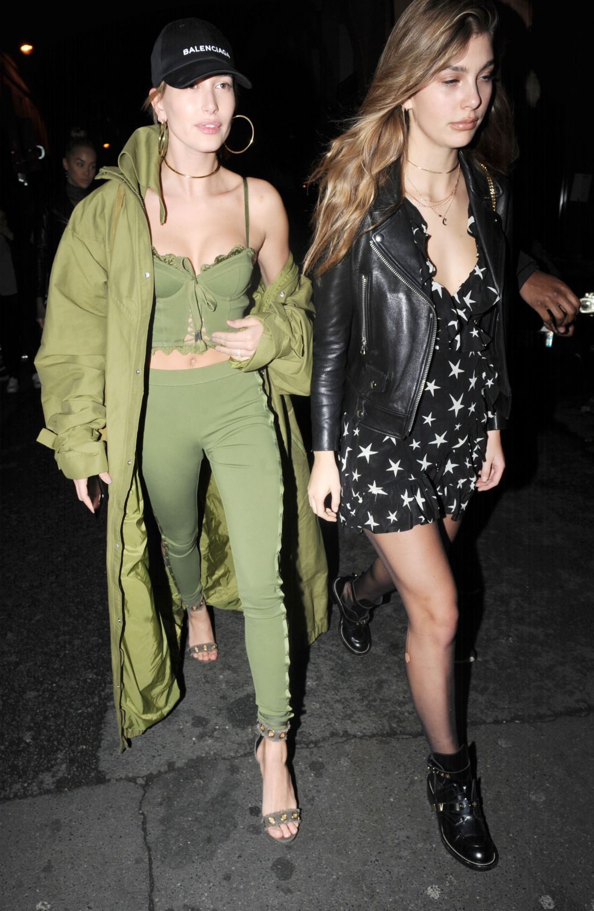 HAILEY BALDWIN and CAMI MORRONE Leavies Pink Pariadie Strip Club in Paris 03/01/2017