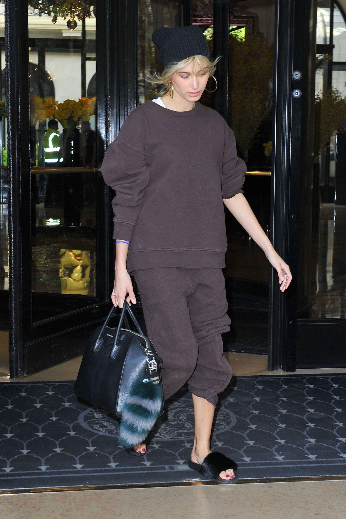 HAILEY BALDWIN leaves Her Hotel in paris 03/27/2017