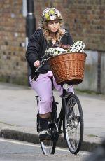 HELAN BONHAM CARTER Riding a Bike Out in North London 03/11/2017