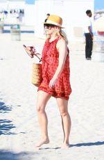 HELENE YORKE at a Beach in Miami 02/26/2017