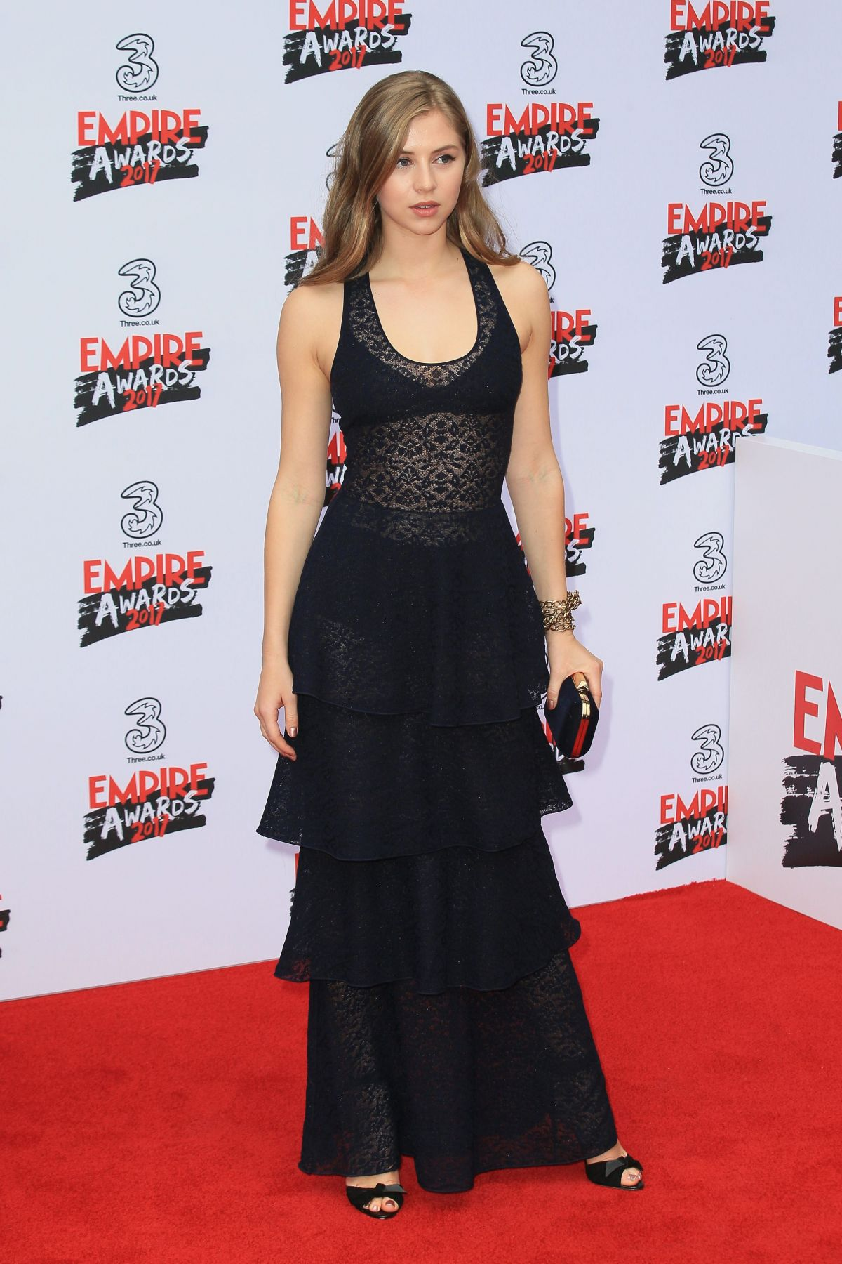 Hermione corfield at three empire awards in london