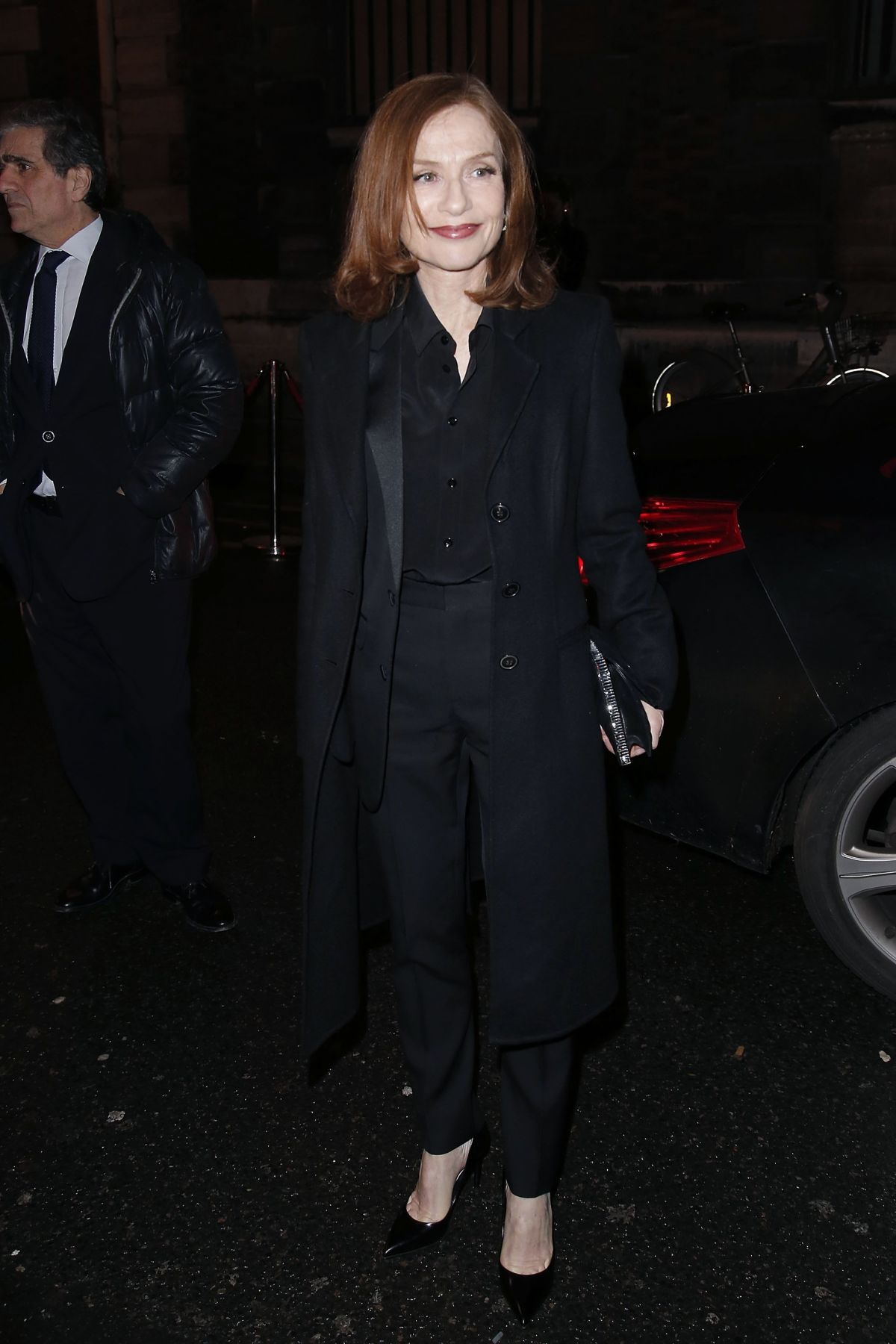 ISABELLE HUPPERT Arrives at L