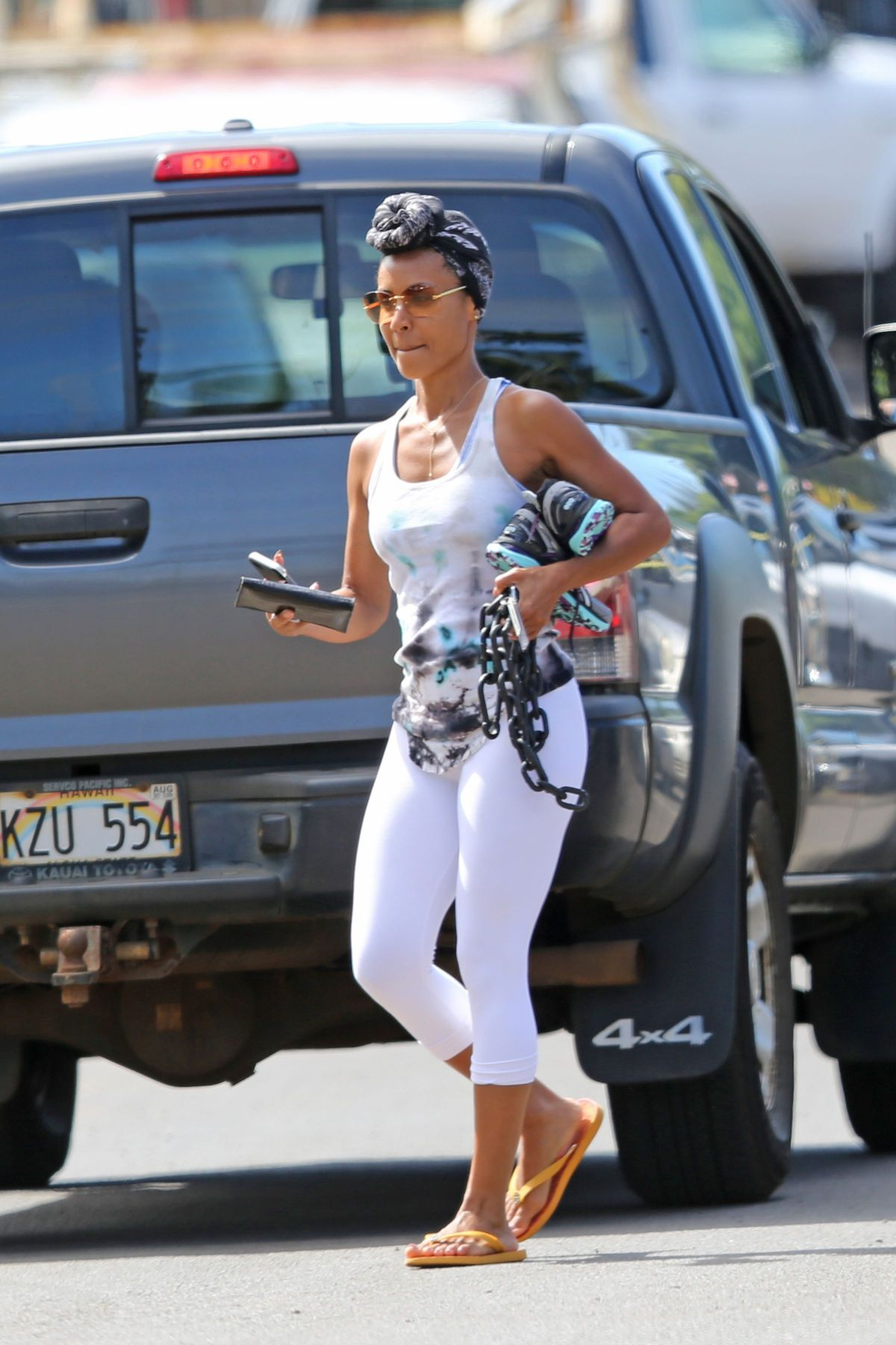JADA PINKETT SMITHH Arrives at a Gym in Hawaii 02/28/2017 ...