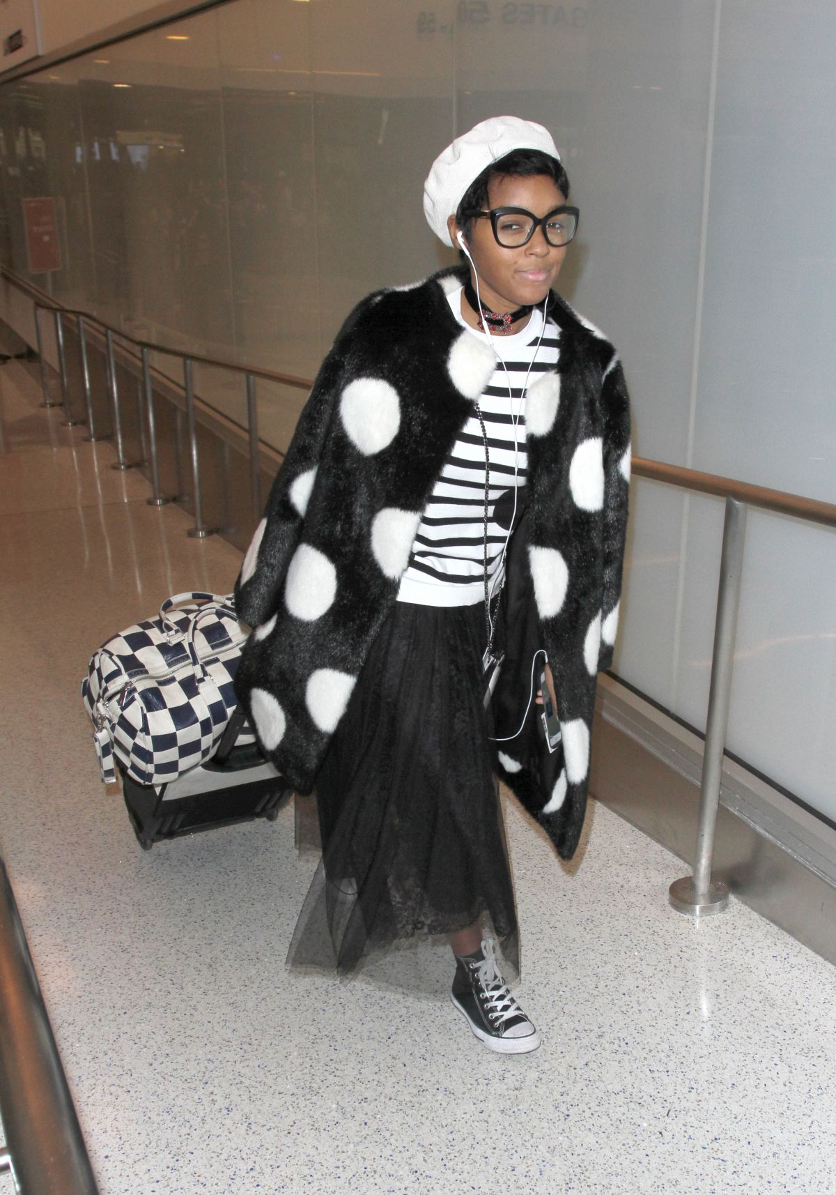 JANELLE MONAE at LAX Airport in Los Angeles 03/22/2017