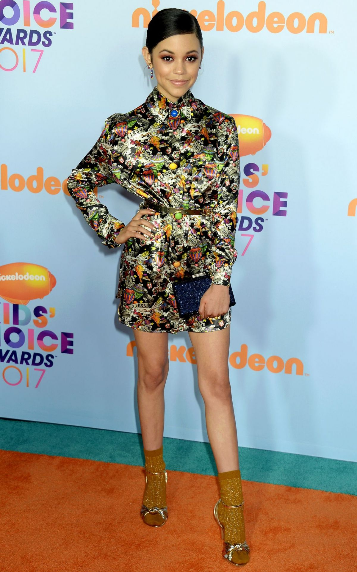 JENNA ORTEGA at Nickelodeon 2017 Kids' Choice Awards in Los Angeles 03/11/2017