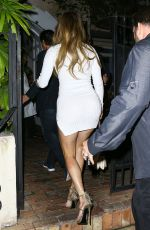 JENNIFER LOPEZ Joins Alex Rodriguez for Dinner in Miami 03/16/2017
