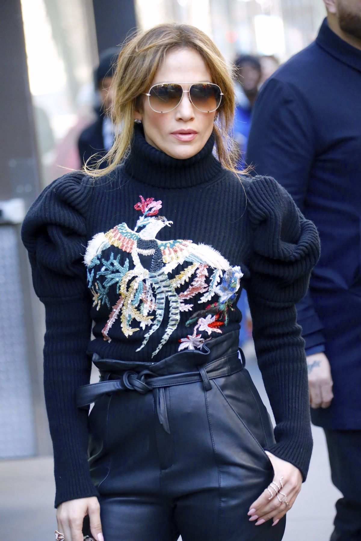 JENNIFER LOPEZ Leaves Toady Show in New York 03/02/2017