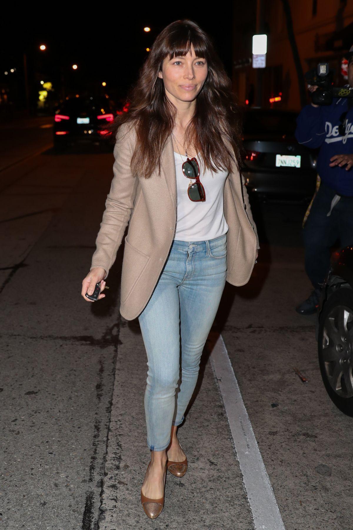 JESSICA BIEL Leaves Au Fudge in West Hollywood 02/28/2017 ...