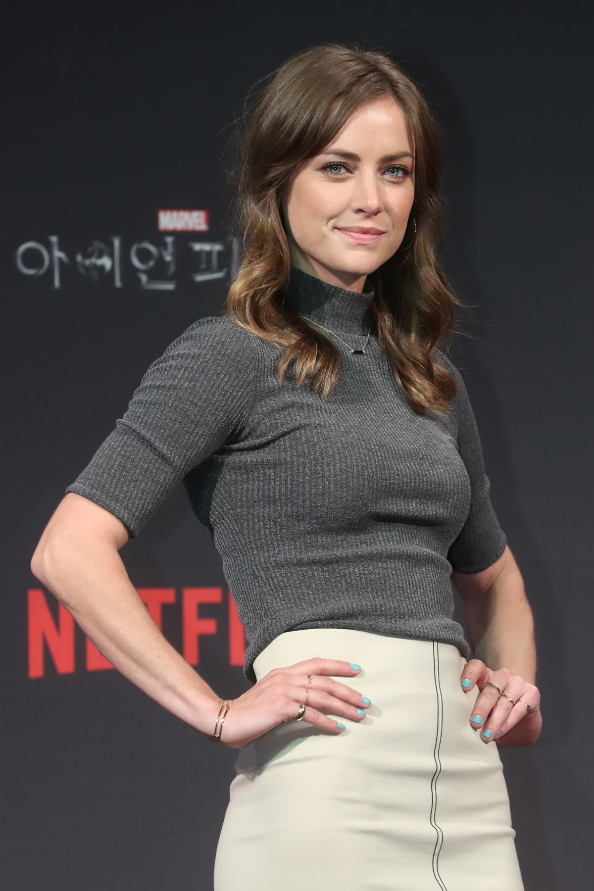 JESSICA STROUP at Iron Fist Press Conference in Seoul 03/29/2017