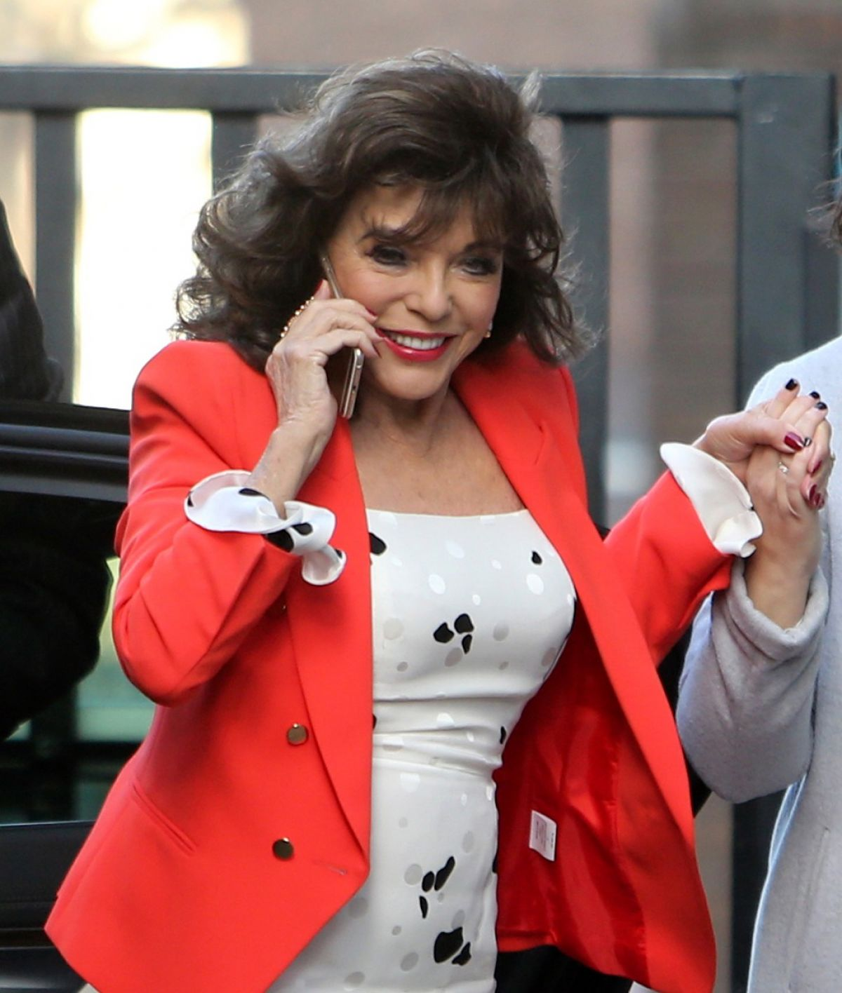 JOAN COLLINS Arrives at ITV Studios in London 03/09/2017