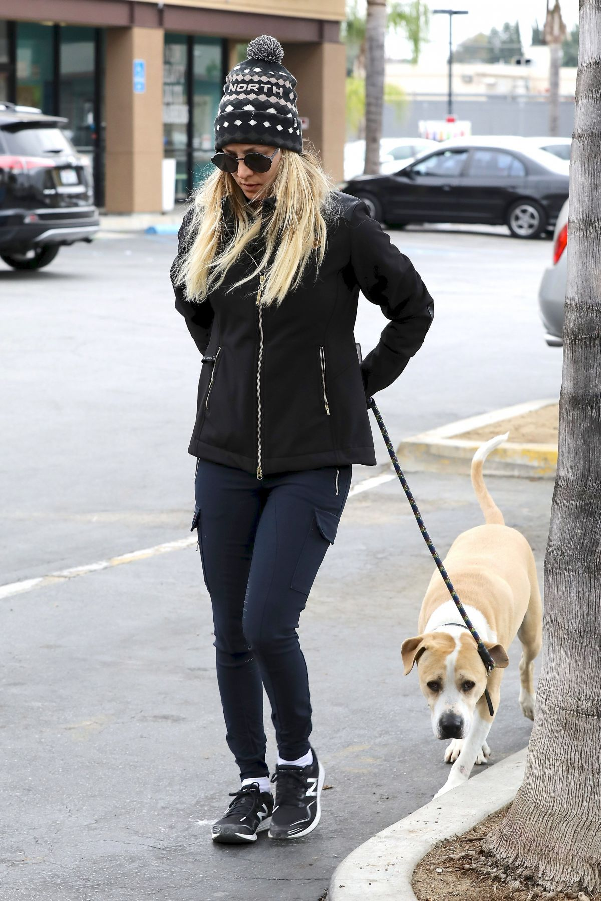 KALEY CUOCO Walks Her Dog Out in Woodland Hills 03/21/2017