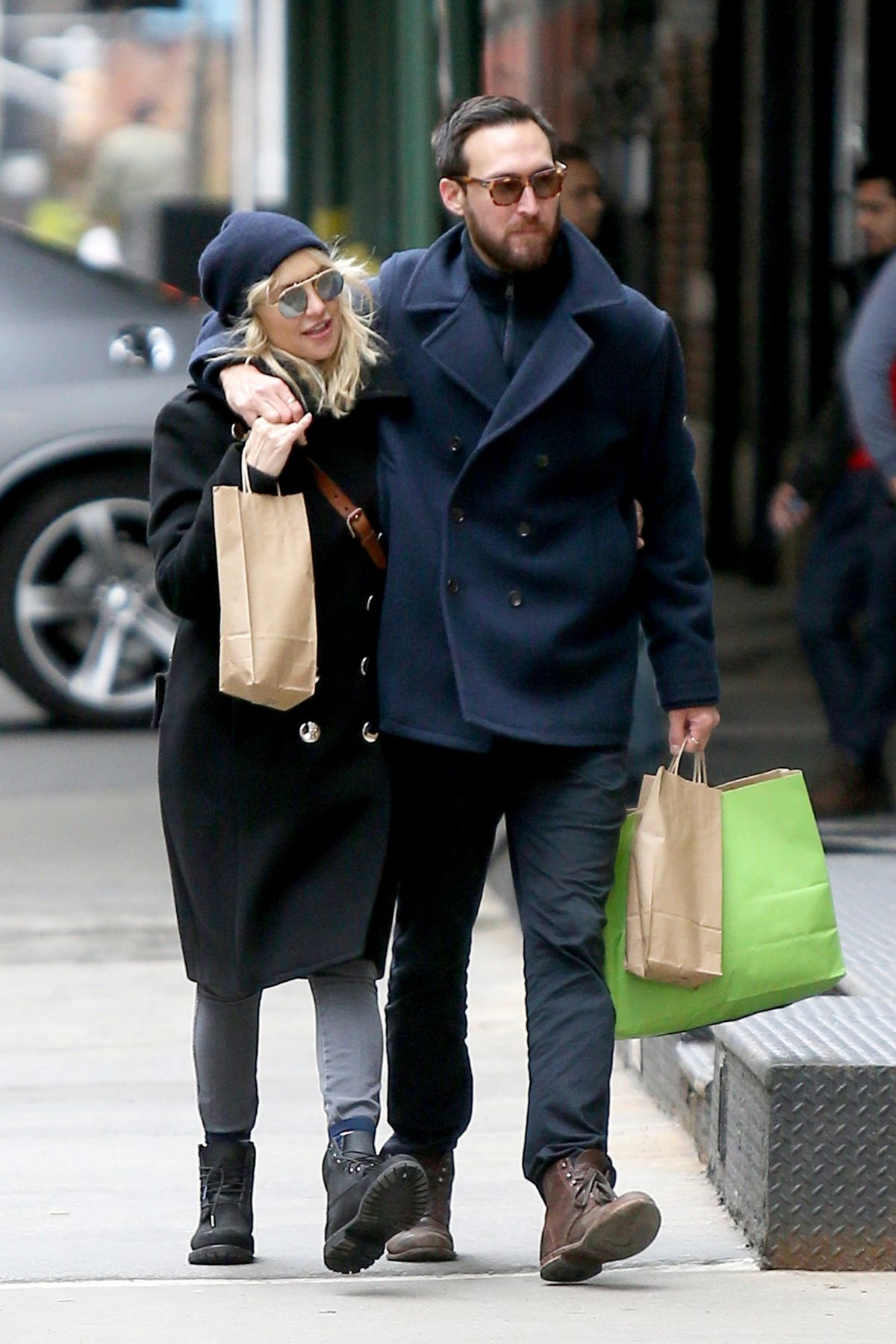 KATE HUDSON and Danny Out Shopping in New York 03/26/2017