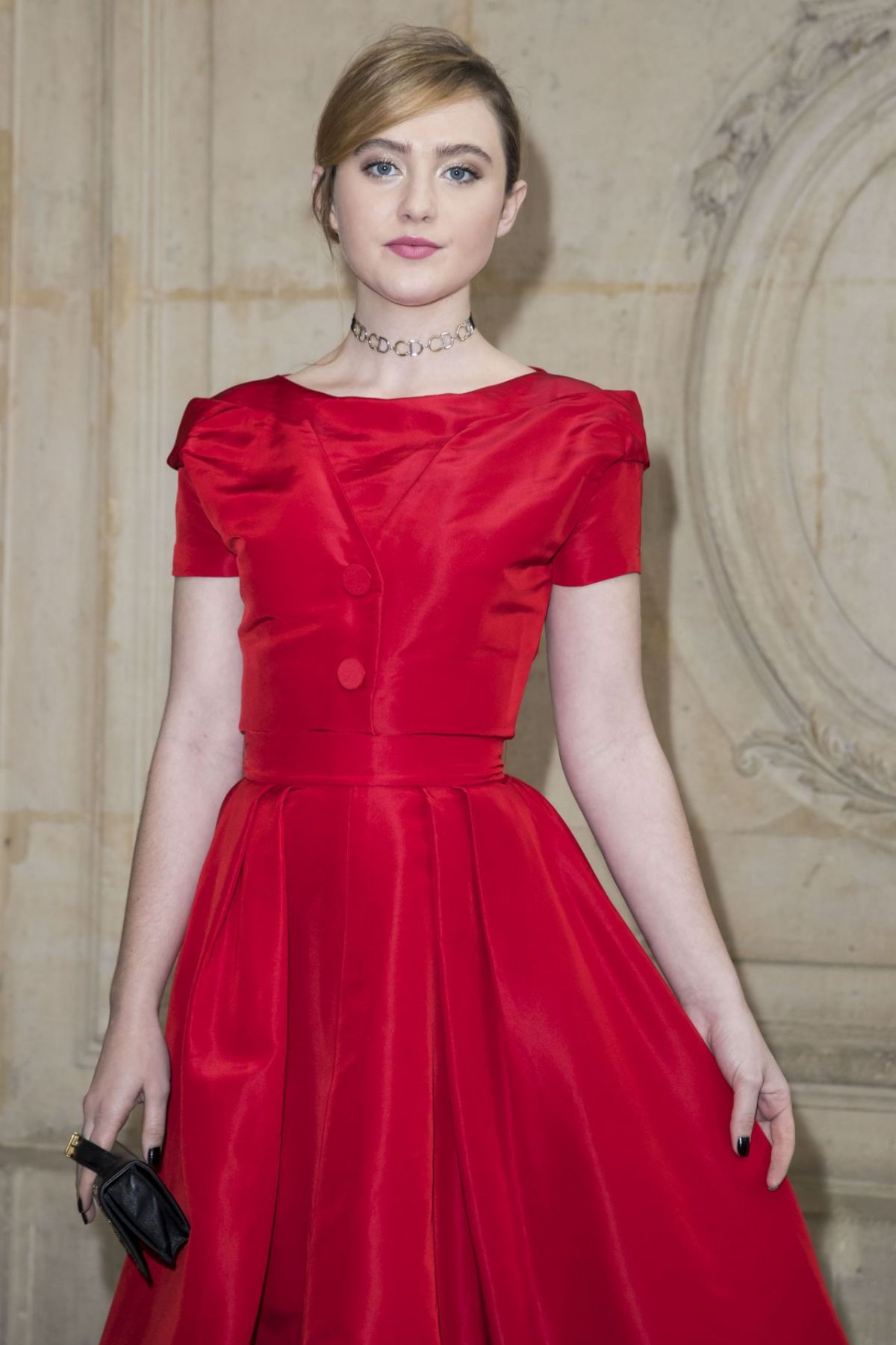 KATHRYN NEWTON at Christian Dior Fashion Show at Paris Fashion Week 03/03/2017