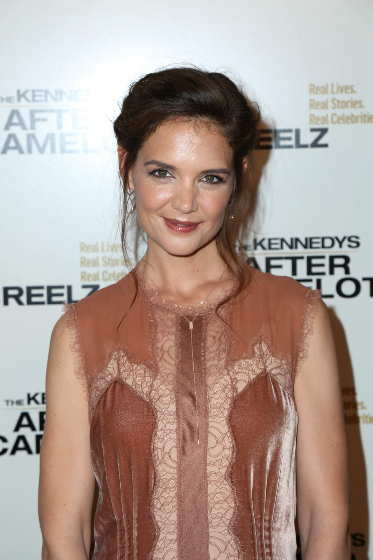 KATIE HOLMES at Kennedys After Camelot Premiere in Beverly Hills 03/15/2017