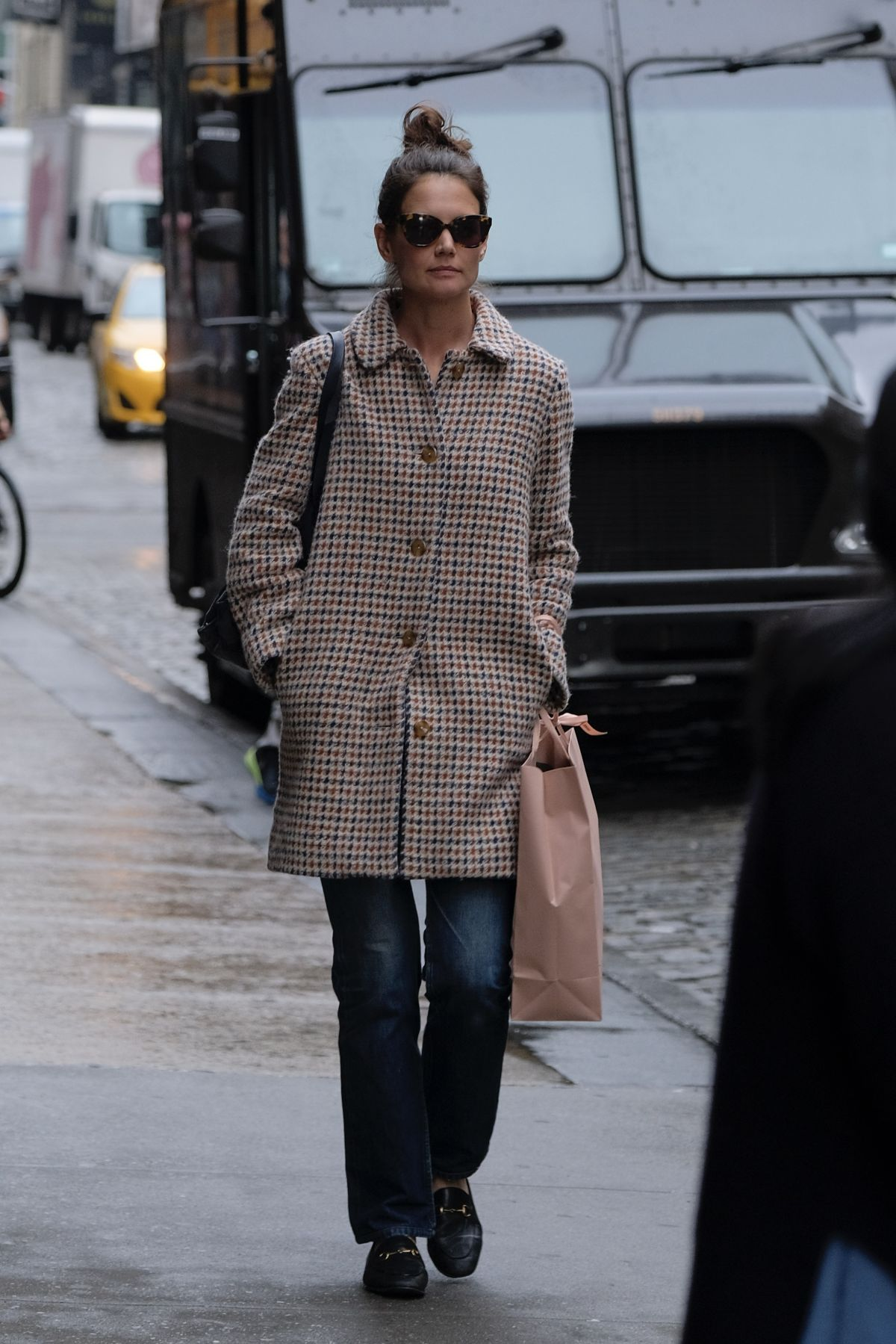 KATIE HOLMES Out Shopping in New York 03/27/2017