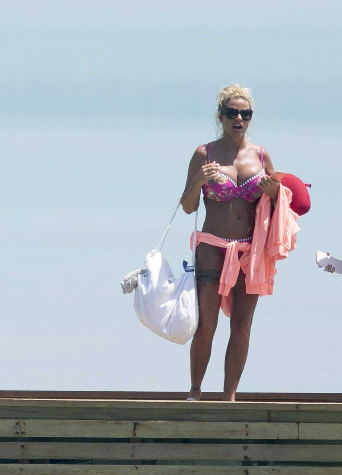KATIE PRICE in Bikini on the Beach in Miami 03/29/2017