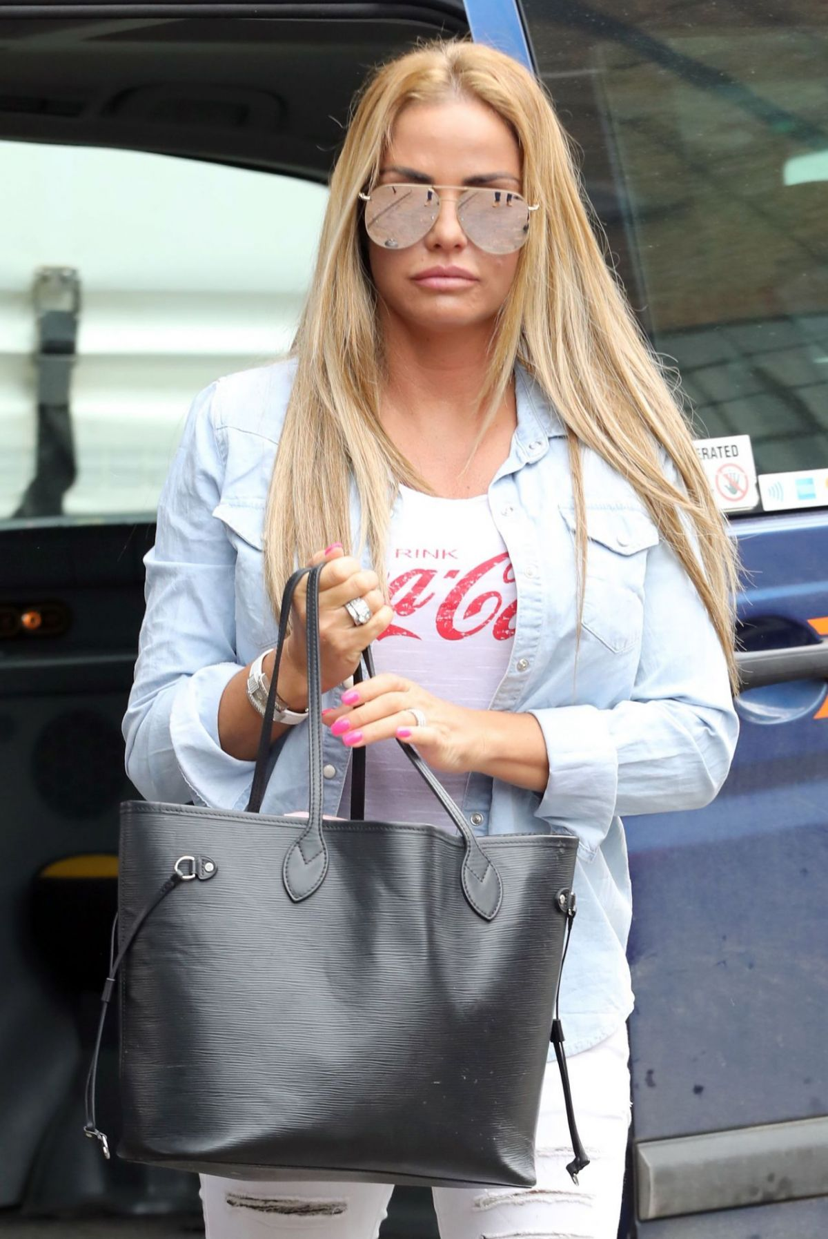 KATIE PRICE Out in London 03/22/2017