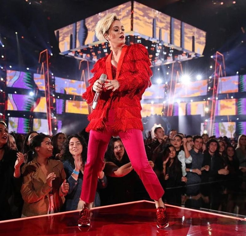 KATY PERRY Performs Chained to the Rhytm at iHeartRadio Music Awards 03/05/2017