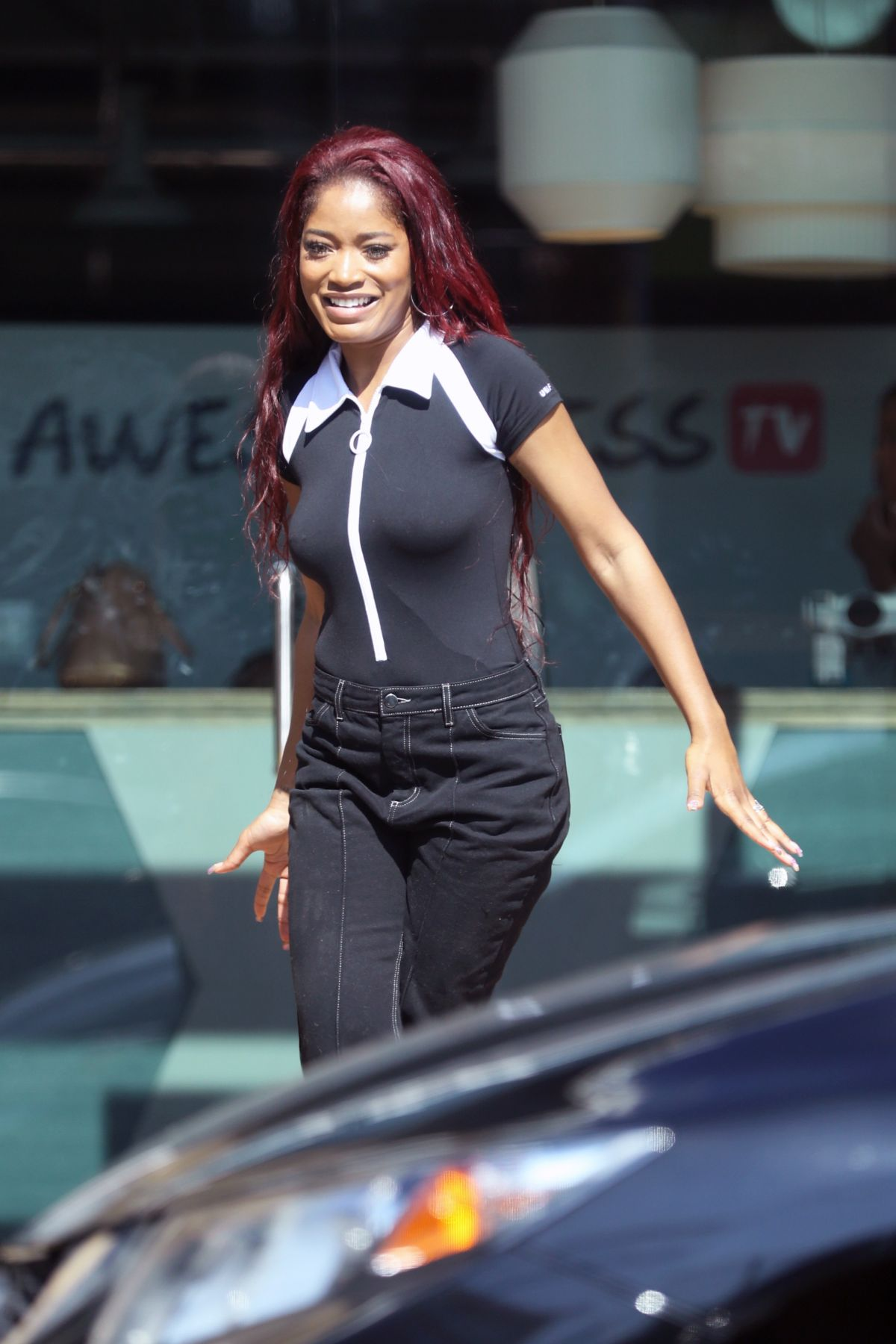 KEKE PALMER on the Set of a TV Show in Los Angeles 03/12/2017