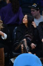 KHLOE and KOURTNEY KARDASHIAN at LA Lakers vs Cavaliers Game 03/19/2017