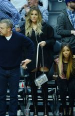 KHLOE KARDASHIAN at LA Clippers vs Cavaliers Game 03/18/2017