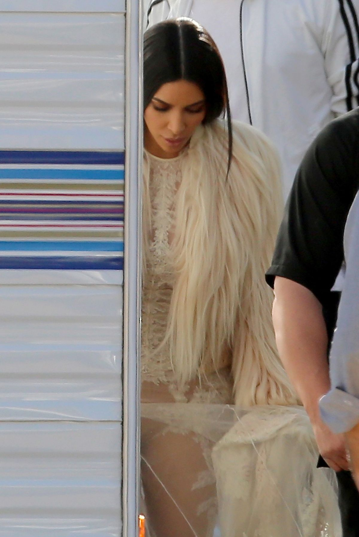 KIM KARDASHIAN on the Set of Ocean's Eight in Los Angeles 03/06/2017