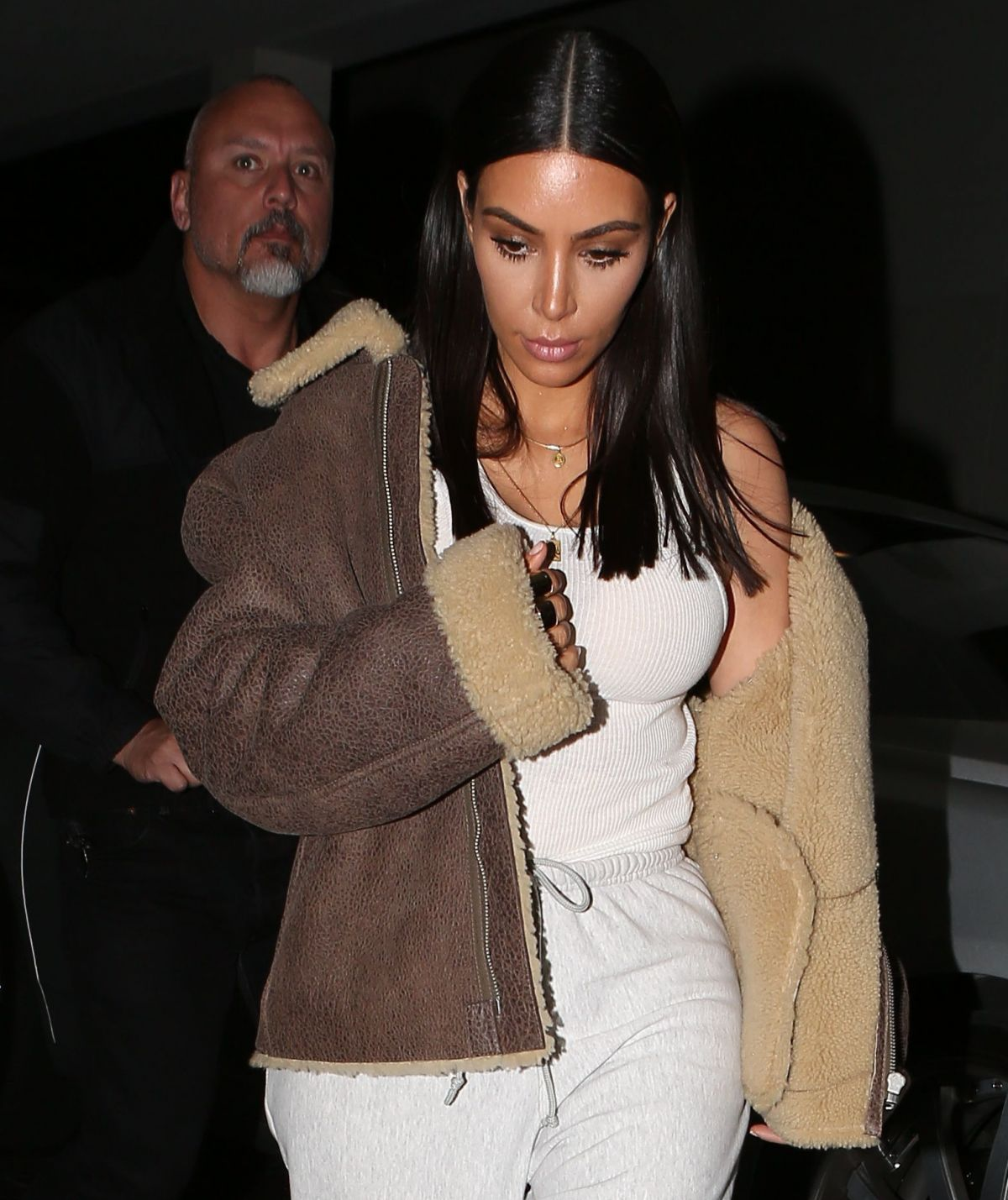 KIM KARDASHIAN Out for Dinner in Los Angeles 03/28/2017