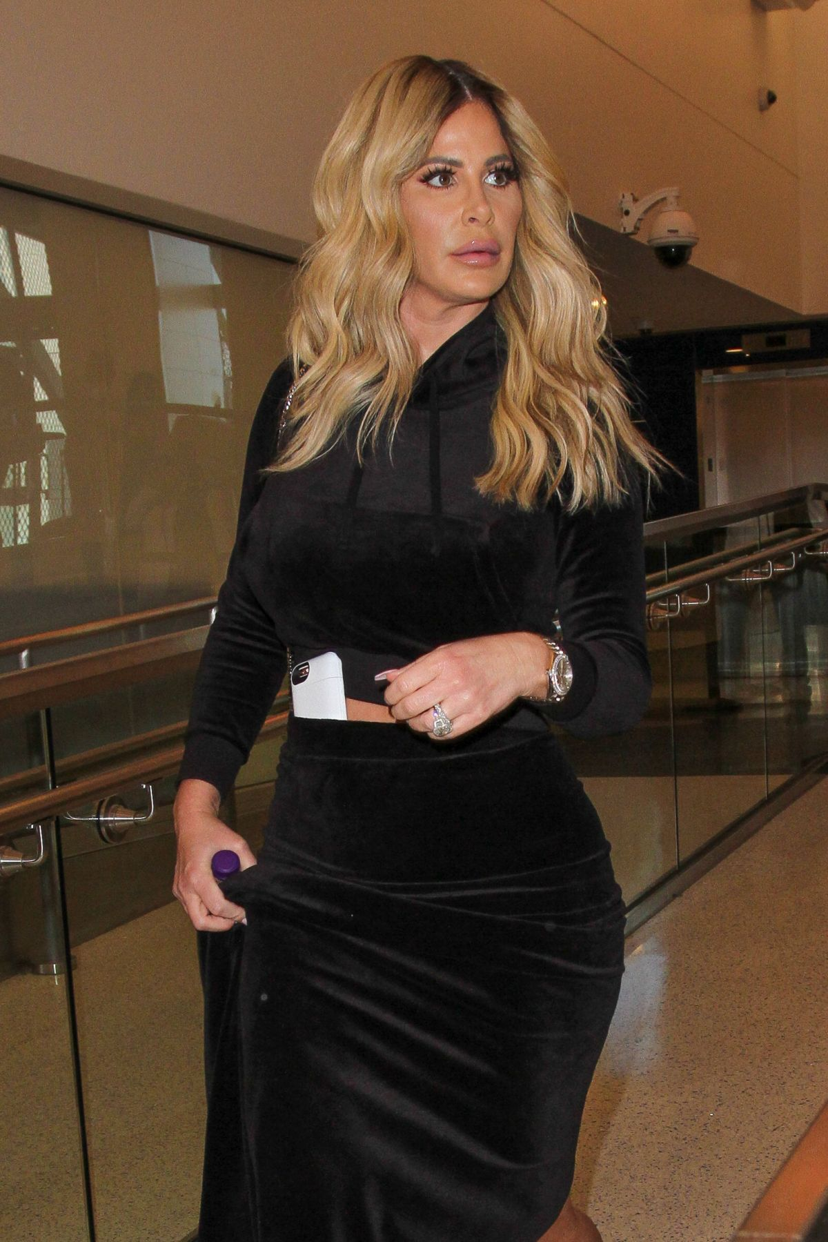 KIM ZOLCIAK at LAX Airport in Los Angeles 03/01/2017