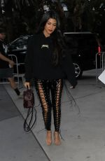 KOURTNEY KARDASHIAN Arrives at Staples Center in Los Angeles 03/19/2017