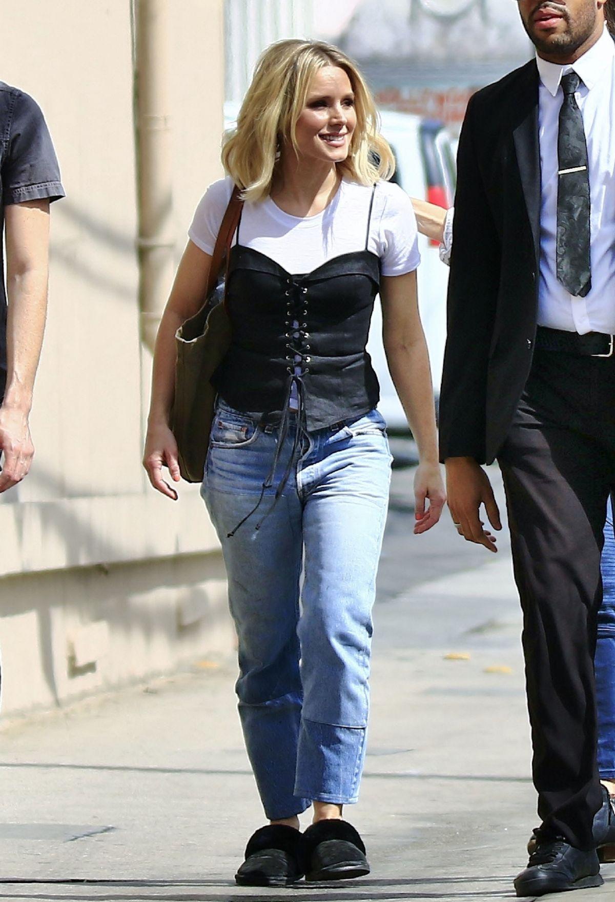 KRISTEN BELL Arrives at Jimmy Kimmel Live in Los Angeles ...
