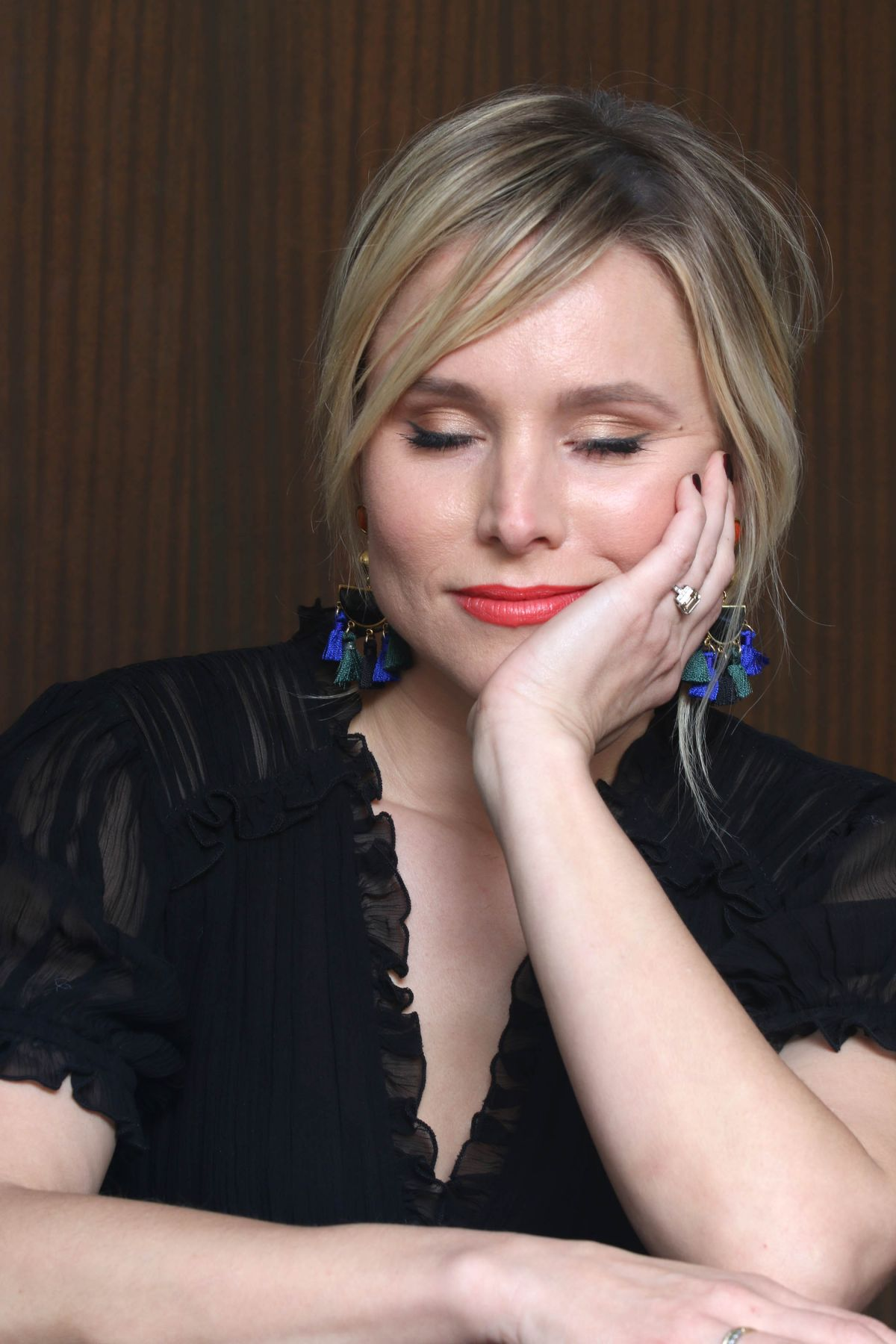 KRISTEN BELL at 'Chips' Press Conference in West Hollywood ...