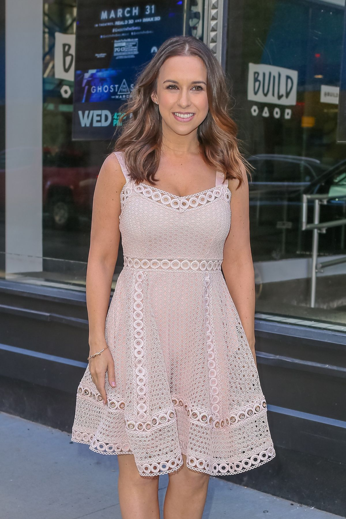 LACEY CHABERT Arrives at AOL Studios in New York 03/29/2017