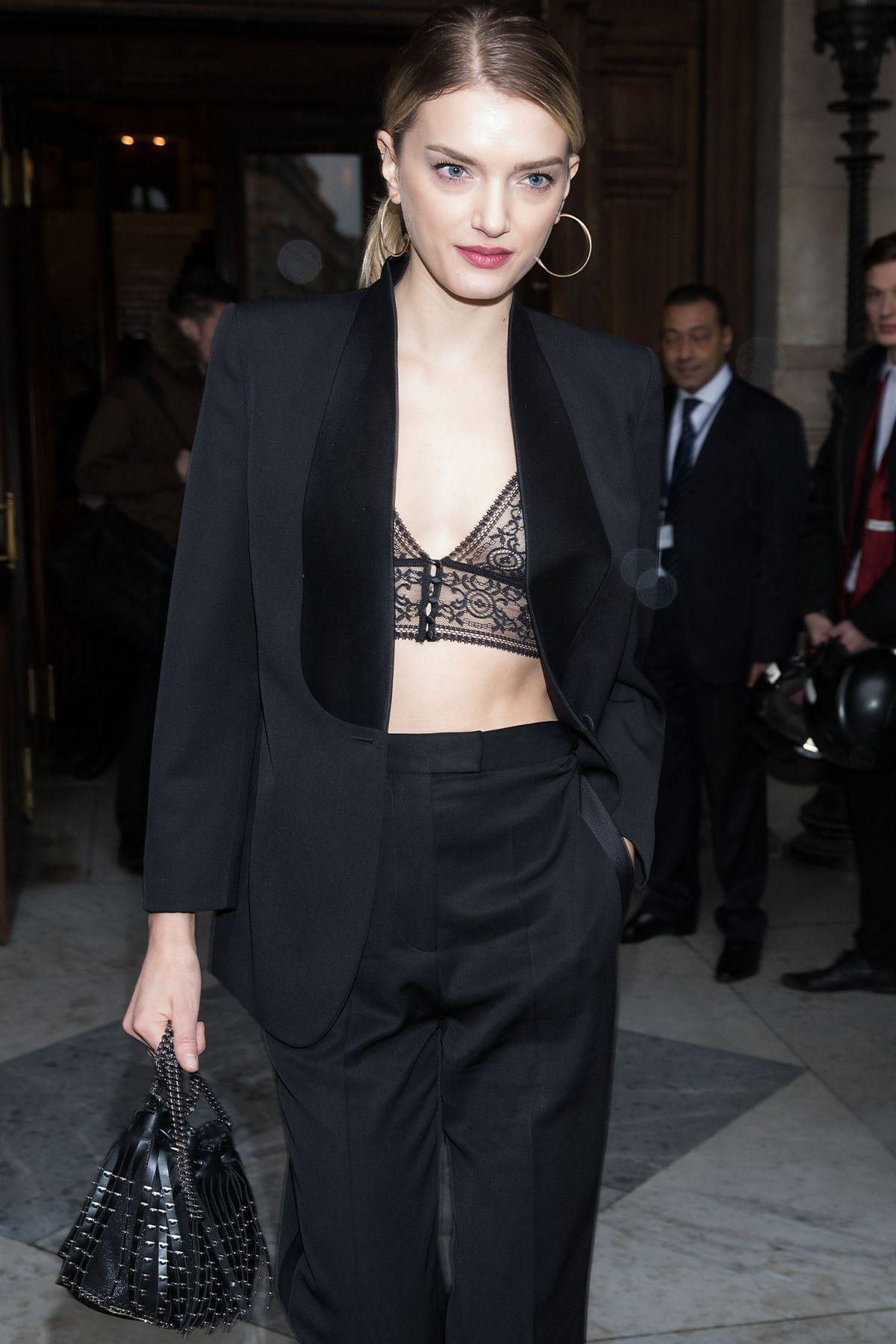 LILY DONALDSON Leaves Stella McCartney Fashion Show in Paris 03/06/2017