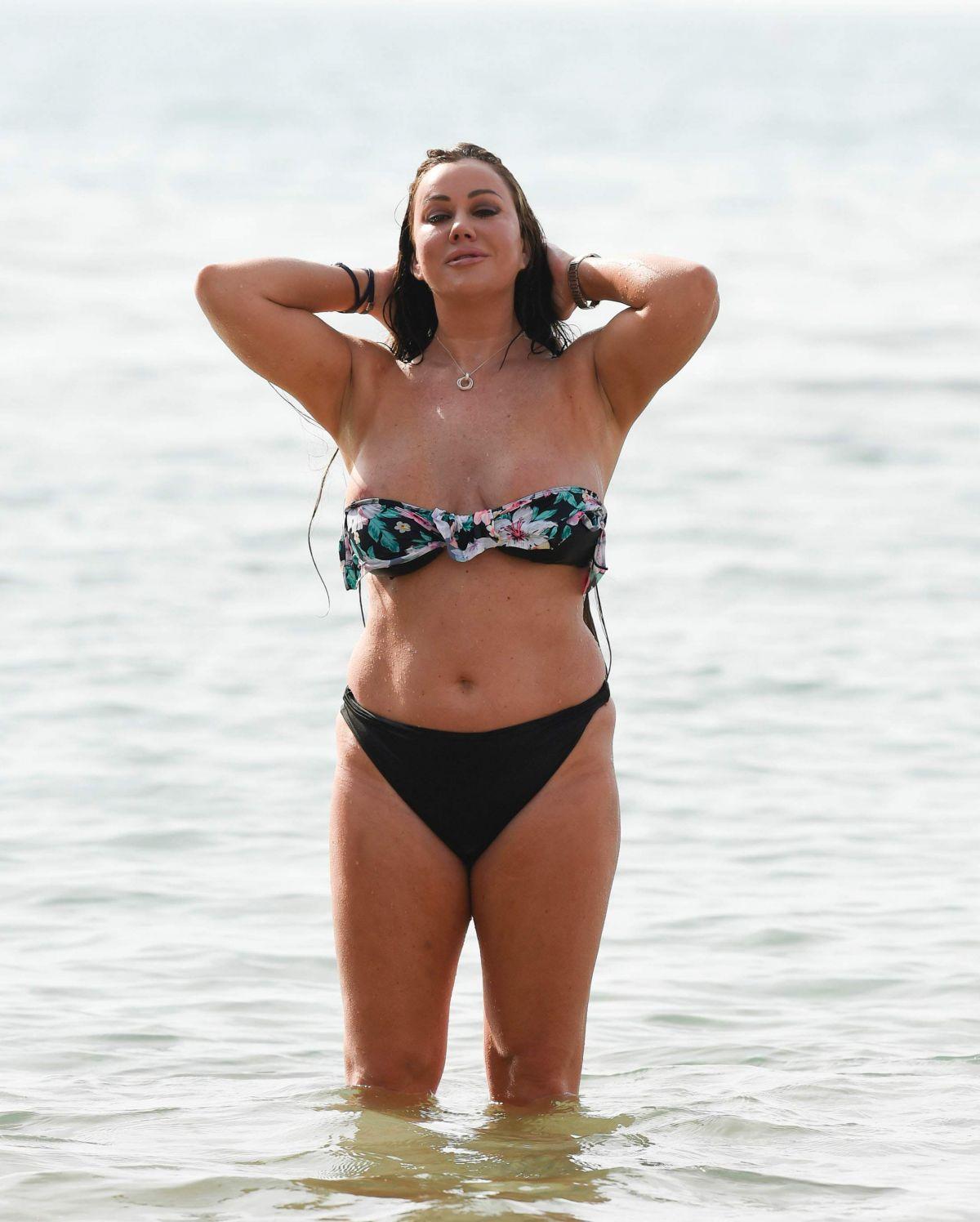 LISA APPLETON in Bikini at a Beach in Spain 03/25/2017