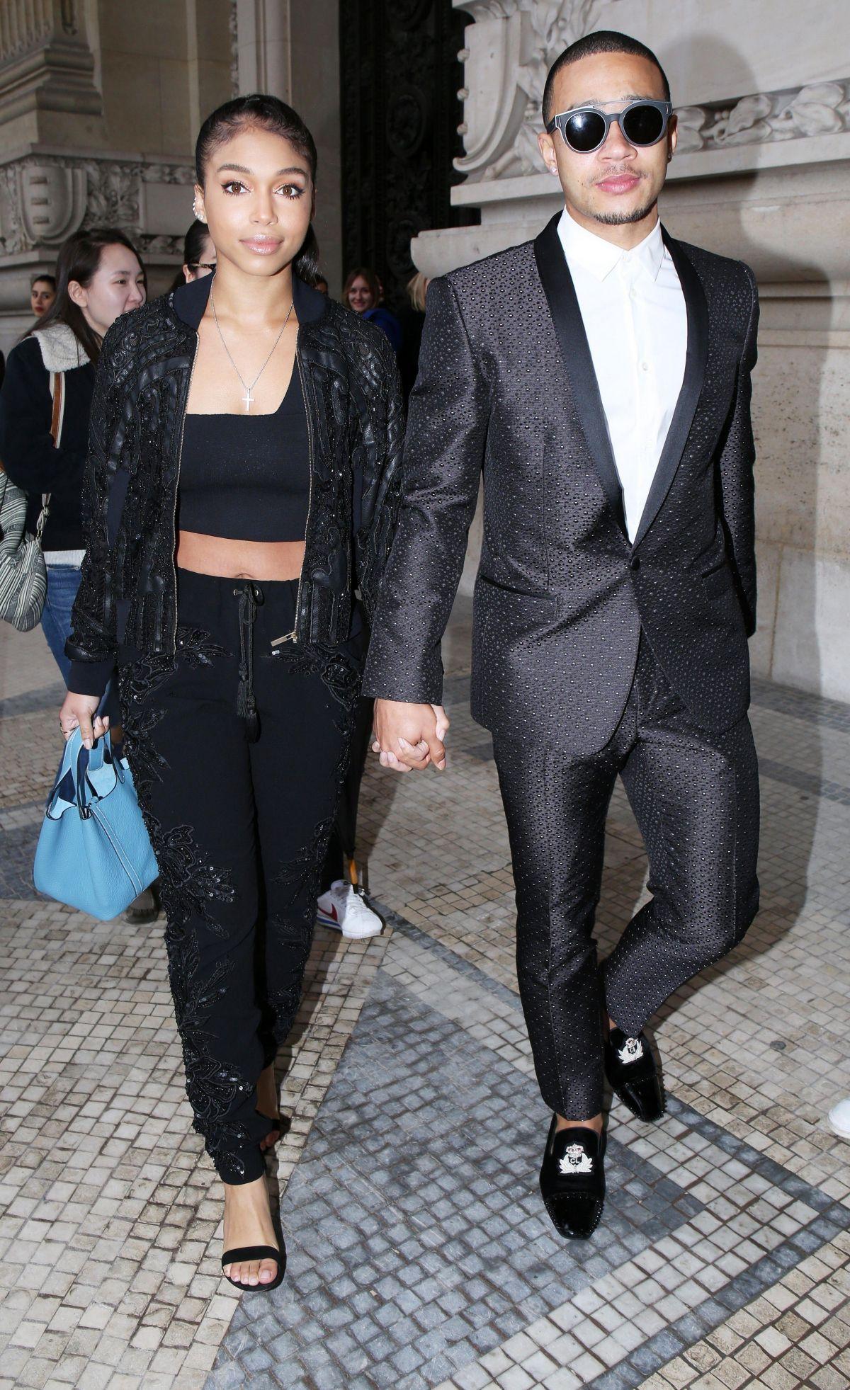 LORI HARVEY Arrives at Elie Saab Fashion Show in Paris 03/04/2017