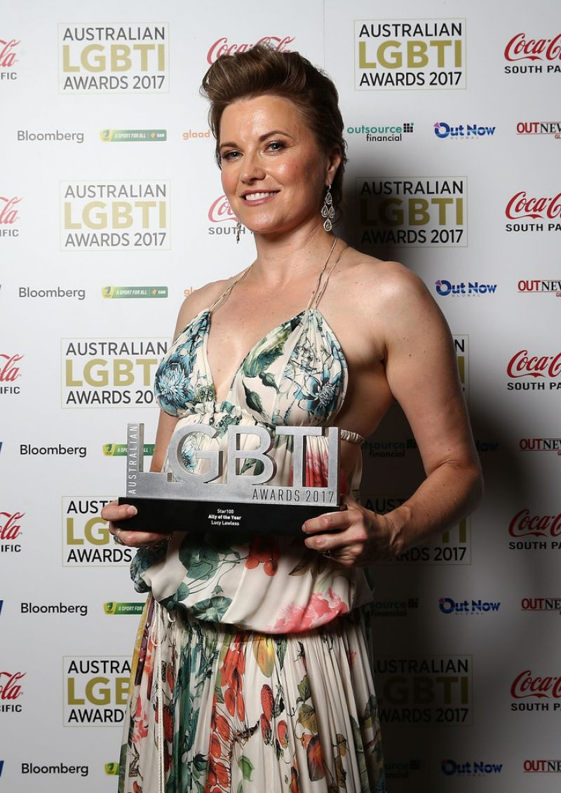 LUCY LAWLESS at Australian LGBTI Awards 2017 in Sydney 03 ... Jessica Chastain Twitter